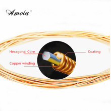 1pcs 85/15 Bronze Light Acoustic Guitar Strings Light Gauge Guitar Strings .011-.052 A910(China)