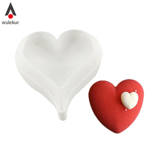 Wulekue 3D Silicon Heart Shape Cake Mold For Fondant Cakes Dessert Mousse Bake Decorating Tools(China)