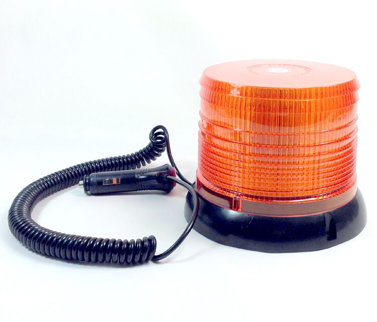 AMBER FLASHING BEACON REVOLVING WARNING RECOVERY MAGNETIC HEAVY DUTY LIGHT LED<br>