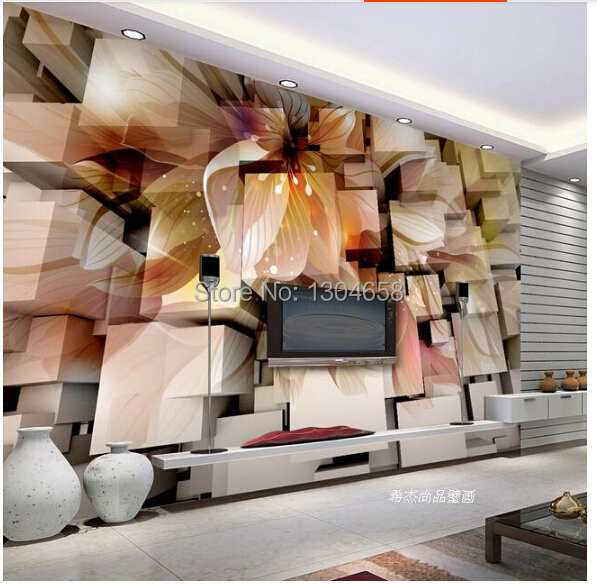Custom 3 d stereoscopic which wallpaper, papel DE parede floral used in the sitting room the bedroom TV wall vinyl  wallpaper <br><br>Aliexpress