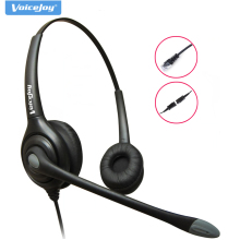 Anti-Noise Telephone headset call center headphone +QD cord RJ9 plug for AVAYA 1608 1616 9611 9620 etc,Grandstream Yealink phone(China)