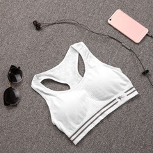 Plus Size Women Quick Dry Tight Compressed Pad Yoga Shirt Sports Bra Push Up Fit Tank Support Tops Running Fitness Gym Top Bras