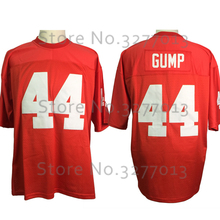 2018 Cheap America Football Jerseys #44 FORREST GUMP Jersey The Movie Vintage Throwback Jersey Retro Stitched Mens Red Shirts(China)