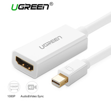 Ugreen Thunderbolt Mini DP to HDMI Cable Adapter Mini Displayport Male to HDMI Female Converter for PC Macbook HDTV Projector(China)