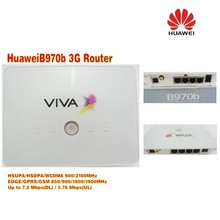 Unlocked Huawei b970b 3G wireless Router Wcdma 3G Wifi Dongle Router Can Call Phone Plus dual usb cable and antenna(China)