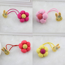 Newly Design Double Headed Rabbit Pumpkin Flowers Elastic Hair Bands Children Headwear Girls Hair Accessories Kids Hair Ropes