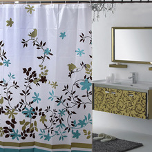 New Shower Curtain Coffee Tree of Bathroom Drape Thickening Waterproof Mouldproof PEVA Shower Curtains