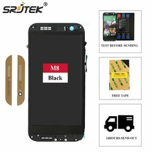 Srjtek screen For HTC One M8 831C LCD Display Touch Digitizer Sensor Glass with Frame Assembly 100% Tested 5.0inch 1920*1080