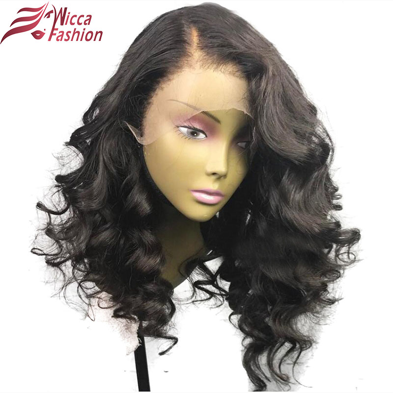 Dream Beauty Brazilian Body Wave 150% Density Hair Full Lace Wigs With Baby Hair 10-16 inch Non Remy Hair Natural Color(China)