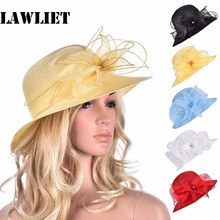 Women Kentucky Derby Floral Wide Brim Church Dress Sun Hat for Women Ladies Floppy Hats Nice Solid Women's Beach Hats Female Cap