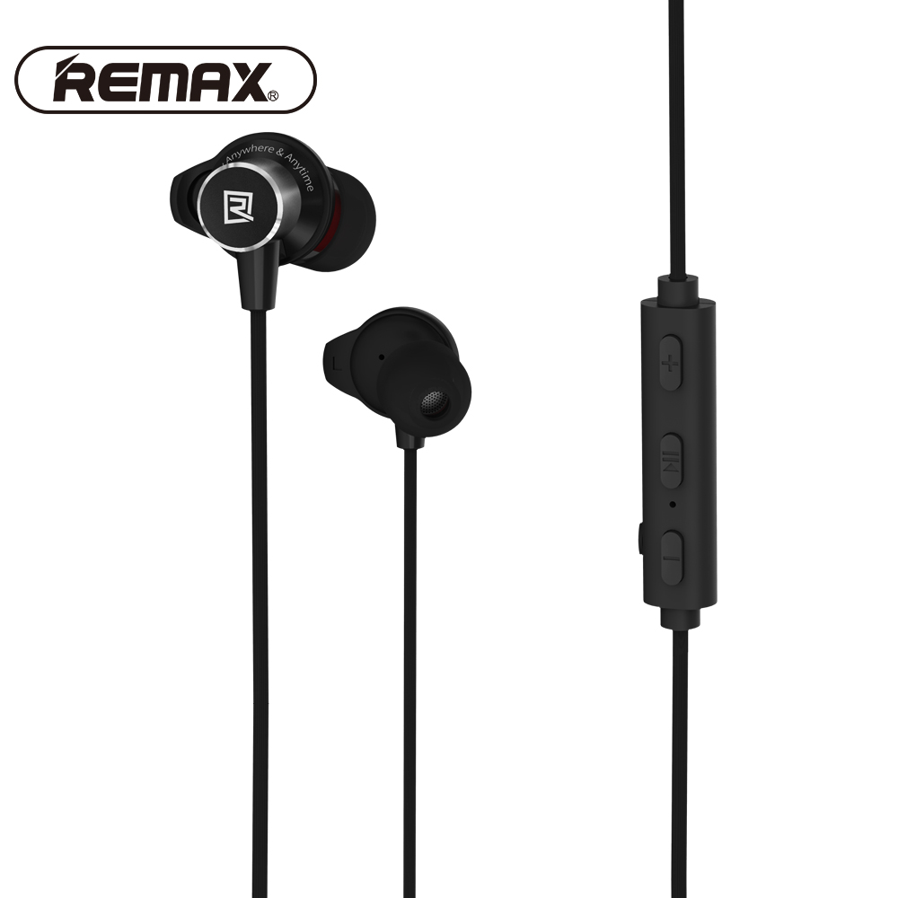 REMAX Sport Running in ear Bluetooth Wireless Earphone Magnetic Neckband CVC Noise-reduce earphone with Mic for iphone<br>