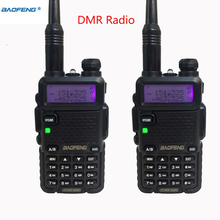 2pcs Long Range 10km Baofeng Dm-5R Dmr Repeater For Cb Radio Station mobile Vhf Uhf Digital Analogy Powerful Walkie talkie Sets(China)