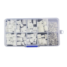 50 sets Kit in Box 2 pin 3 pin 4 pin 2.54mm Pitch Terminal / Housing / Pin Header Connector Wire Connectors Adaptor XH2P Kits