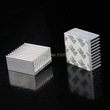 2 PCS Cooler Accessories 40mm Heatsink 40x40x20mm IC Heat Sink Aluminum Cooling Fin Fan