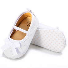 PU Leather Shoes For Baby Girl PU Shoes Prewalker Newborn Girl  First Walker Bow Baby Shoes Black Artifical Leather Prewalker