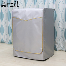 Washing Machine Cover Waterproof Case Home Sunscreen Laundry Dryer Polyester Silver Coating Automatic Roller Dustproof(China)