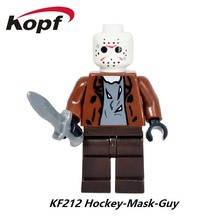 The Horror Theme Movie Jason Hockey Mask Guy Clockwork Orange Nightmares Sally Shock Building Blocks Children Gift Toys KF212