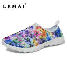 LEMAI 2017 New Breathable Graffiti Women Sneakers Shoes Sports Tennis Shoes Platform Running Shoes For Women