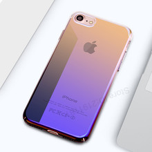 Plastic Cover Cases For iPhone 7 6 6s Case 5 5s SE Phone Cover For iphone 7 6 6 Plus 7Plus Case Cool Blue Ray Capa Coque(China)