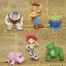 6 Pcs/lot Kawaii Toys Story Woody Buzz Lightyear Classic Movie Toys Action & Toy Figures Collection Model Gift