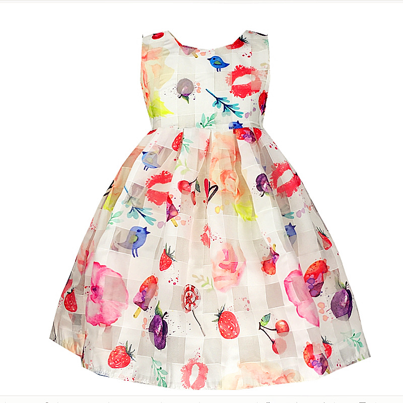 New Fashion Girls Dresses Dot Cotton Party Birthday Casual Baby Children Clothes princess dress elsa dress christmas dress<br><br>Aliexpress