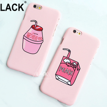 LACK Newest Cute Milk Box Case For iphone 6 Case For iphone6 6S Plus Cell Phone Cases Cartoon Fruit Peach Drinks Back Cover Capa(China)