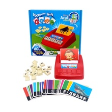 Kids Learning English Card Word Scrabble Teach Educational Toy Fun Gift Learning Maching Toys Learning Machines(China)