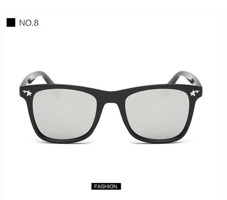 Fashion Kids Sunglasses lovely Sunglasses Mosaic Boys Girls Pixel Eyewares With Case Children Gift (18)
