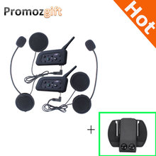 Extra Clip ! V6 1200M Helmet Intercom Two-way Motorcycle Bluetooth Intercom Headset Walkie Talkie Intercom Moto Bluetooth