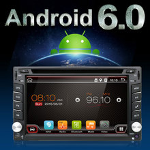 UNIVERSAL Quad Core 6.2inch 2 Din Android Car Stereo Radio touch Screen GPS Navigation 3G WIFI Bluetooth OBD2 Mirror Link Camera(China)