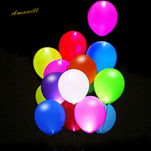 Amawill Glowing Wedding Balloon Multicolor LED Light Up Balloons For Wedding Birthday Party Decoration Luminous Balloons 8D(China)