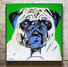Hand painted famous artist painting pop dog Art On Canvas Oil Painting For Wall Pictures Home Decor Art(China)
