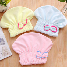 Women Girls Lady's Magic Quick Dry Bath Hair Drying Towel Plush Head Wrap Hat Makeup cosmetics Cap Bathing Tool