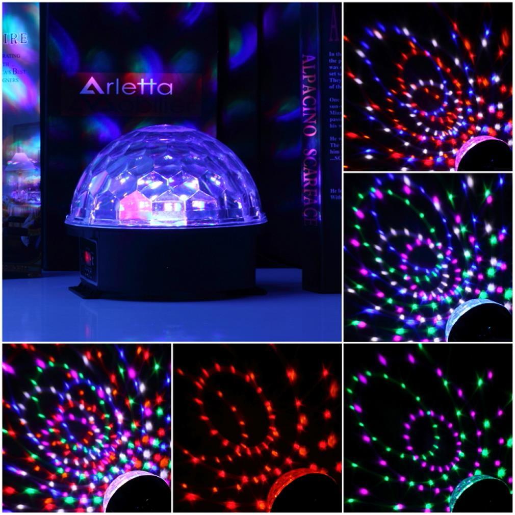 stage lamp geluid controle 6 kleuren magic crystal ball disco light party verlichting 110-220 v laserlicht kerst laser p<br><br>Aliexpress