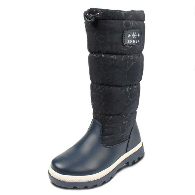 Childrens Shoes Rubber Boots real leather boys girls snow boots casual kids plush long boots watterproof women boots Size 32-37<br>