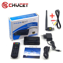 Chycet Freesat V7 HD Digital TV satellite decoder satellite receiver DVB-S2 1080P+USB WIFI full support Europe Cccam Optional