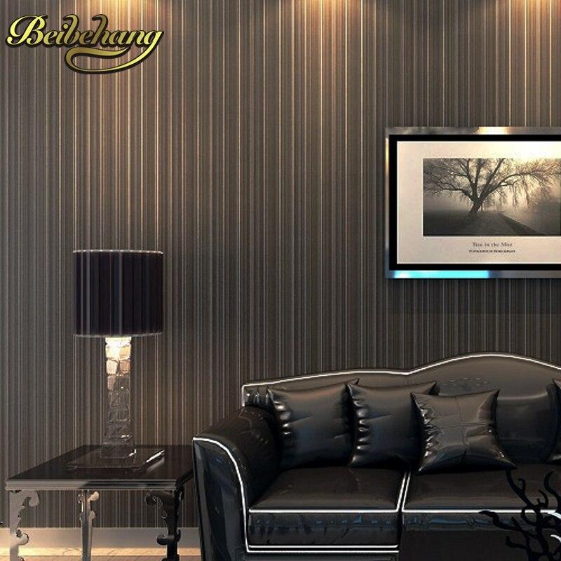 beibehang designer glitter metallic textured feature vertical thin stripe wall paper pvc vinyl wallpaper roll papel de parede 3D<br>