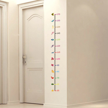 Cartoon seabed animals Height Measure Wall Stickers Home Decor DIY Simple Chart Ruler Decoration For Kids Rooms Decals Wall Art(China)