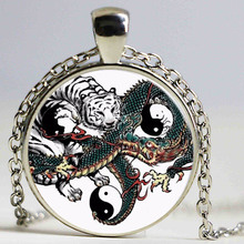 Fashion Necklaces Chinese Style Dragon Tiger Pendant Long Sweater Necklace Vintage Men Necklace Pendant Steampunk Jewelry