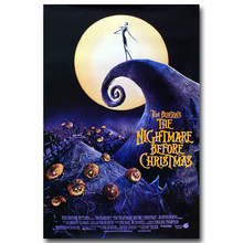 NICOLESHENTING The Nightmare Before Christmas Art Silk Poster Print Cartoon Movie Picture for Home Decor 009(China)