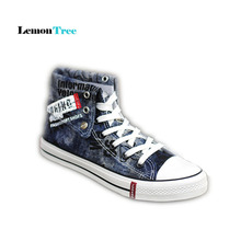 Design High Top Canvas Sneakers Original Skateboarding Shoes for Men Upper ofthe Shoes Can Adjustable Outdoor Athletic Shoes S10