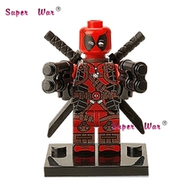1PCS superhero marvel avengers Deadpool Wilson building blocks action sets model bricks toys for children(China)