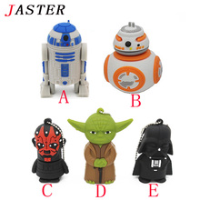 JASTER Star Wars Creative R2D2 Robot model 8GB 16GB 32GB USB 2.0 Flash Pen Drive Memory Disk 0Stick  usb flash drive