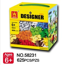 625pcs Wange Designer DIY Creative Educational Assemble Building Blocks Figures Model Bricks For Kids Toys Compatible With Lego(China)