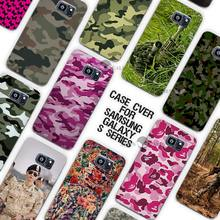 Military camouflage colorful Clear Case Cover Coque Shell for Samsung Galaxy S3 S4 S5 Mini S6 S7 Edge Plus