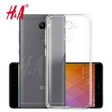 H&A Luxury Soft TPU Ultra Crystal Clear Phone Case For Xiaomi Redmi 4 Pro Cover For Redmi 4x Silicone Cases For Redmi 4A case