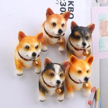 1Pc Cute 3D dog Cartoon Animal Fridge magnet Kids Early Education Dog Refrigerator Sticker Decals #45