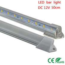 10X Factory Wholesale 50CM DC 12V 36 SMD 7020 LED Hard Rigid LED Strip Bar Light with Aluminium shell(China)