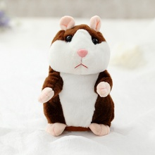 Dropshipping Lovely Talking Hamster Plush Toy Cute Speak Talking Sound Record Hamster Stuffed Animal Toys Christmas Gifts(China)
