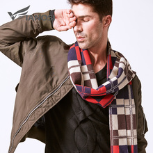 VIANOSI Wool Scarf Men Plaid Winter Warm Cotton Scarves Man Bussiness Casual Scarf VA251(China)